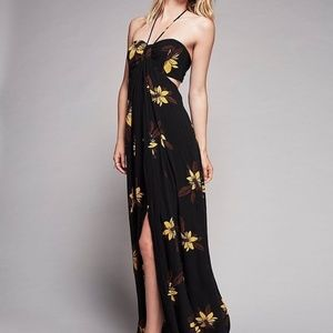 New Free People Tropical Escape Printed Maxi Dress